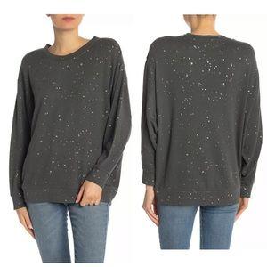 Splendid City Lights Metallic Splatter Sweatshirt